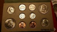 3 DOUBLE MINTSETS 50'S & 60'S COINS REPLACED BUT HOLDERS ARE