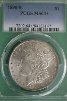 1890 S MINT STATE 64 MORGAN SILVER DOLLAR PCGS GRADED CERTIFIED AUTHENTIC SLAB OCE 189