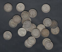 1911 36 CANADA 10 CENTS SILVER COINS   LOT OF 25