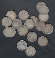 1902 10 CANADA 25 CENTS SILVER COINS   LOT OF 20