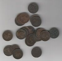 1859 1901 CANADA LARGE CENT COINS   LOT OF 20