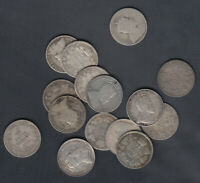 1902 10 CANADA 10 CENTS SILVER COINS   LOT OF 15