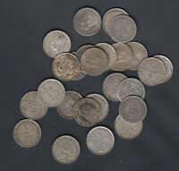 1903 47 NEWFOUNDLAND 5 CENTS SILVER COINS LOT OF 25