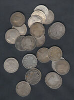 1902 10 CANADA 5 CENTS SILVER COINS LOT OF 25