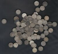 1903 47 NEWFOUNDLAND 5 CENTS SILVER COINS LOT OF 102