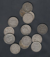1903 47 NEWFOUNDLAND 10 CENTS SILVER COINS LOT OF 15