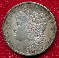 1882-S MORGAN SILVER DOLLAR CHOICE ALMOST UNCIRCULATED SHIPS FREE