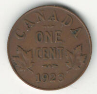 CANADA 1923 SMALL CENT 1 CENT KEY DATE
