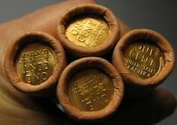 4 ROLLS MYSTERY TAILS/TAILS LINCOLN WHEAT CENT OBW ORIGINAL