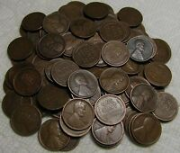 2 ROLLS OF 1917 D DENVER LINCOLN WHEAT CENTS FROM PENNY COLL