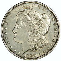1890 MORGAN DOLLAR  AU ABOUT UNCIRCULATED  PRICED RIGHT INV908