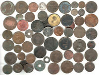 FIFTY SEVEN VERY OLD COINS ANCIENT 1600'S 1700'S & EARLY 180