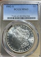 1882-S PCGS MINT STATE 65 MORGAN SILVER DOLLAR