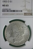1902 O MINT STATE 65 MORGAN SILVER DOLLAR NGC GRADED CERTIFIED AUTHENTIC SLABBED OCE 127