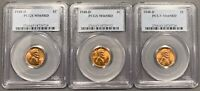 LOT OF 3 1948-D LINCOLN WHEAT CENTS 1C - ALL PCGS MINT STATE 65RD