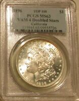 1896  MORGAN DOLLAR  VAM-4  DOUBLED STARS