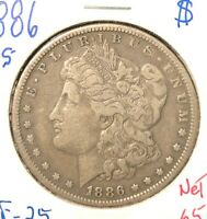 1886-S  MORGAN DOLLAR  VF