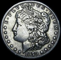 1879-CC CLEAR CC MORGAN DOLLAR SILVER ----   DATE  ---- H107