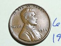 1935 1C BN LINCOLN CENT WHEAT CENT 6264K