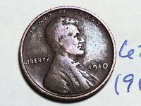 1910 1C BN LINCOLN CENT WHEAT CENT 6265K