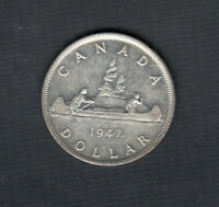 1947 ML CANADA DOLLAR SILVER COIN