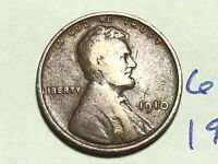 1910 1C BN LINCOLN CENT WHEAT CENT 6191K