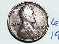 1910 1C BN LINCOLN CENT WHEAT CENT 6195K