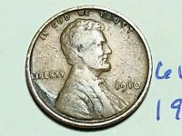1910 1C BN LINCOLN CENT WHEAT CENT 6198K