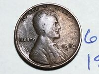 1910 1C BN LINCOLN CENT WHEAT CENT 6219K
