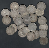 1911 1936 CANADA 25 CENTS SILVER COINS   LOT OF 25