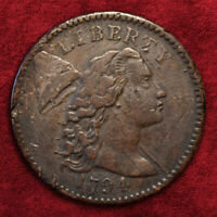1794 FLOWING HAIR CENT, HEAD OF 94, S-46 R-3, BN, HIGHER GRADE VF-EXTRA FINE  DETAILS