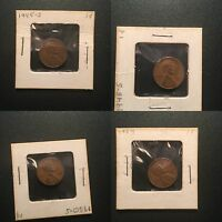 1945-S 1 CENT, 1948-S 1 CENT, 1950-S 1 CENT, 1954 1 CENT 4 COIN LOT