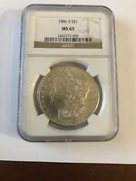 1886 S SILVER DOLLAR MORGAN