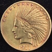1911 GOLD EAGLE $10 GOLD INDIAN    FREE SHIPPING