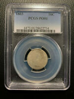 1803 DRAPED BUST DIME PCGS PO01 POOR 1 LOWBALL TYPE REGISTRY SET  10C