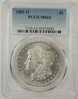 1881-O $1 MORGAN SILVER DOLLAR PCGS MINT STATE 61 40450485 -  MINT STATE COIN