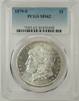 1879-S $1 MORGAN SILVER DOLLAR PCGS MINT STATE 62 40450498 - GREAT EYE APPEAL
