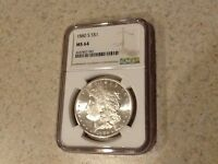 1880-S MORGAN SILVER DOLLAR NGC MINT STATE 64  DAZZLING MINT LUSTER