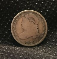 1830 CAPPED BUST SILVER DIME GREAT TYPE COIN   [SF151]