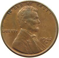 UNITED STATES CENT 1942 D TOP S63 935 YY