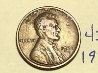 1926-D 1C BN LINCOLN CENT WHEAT CENT 4367K