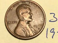 1926-D 1C BN LINCOLN CENT WHEAT CENT 3114K