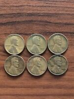 LOT OF 6 LINCOLN WHEAT PENNIES 1918, 1924, 1925-S, 1926, 1926, 1929