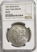 1901 MORGAN DOLLAR-HITLIST 40 NGC AU55 - VAM7 DDR ARROWS