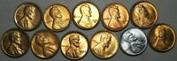 1930-S 1934 1935-S 1936-1947 MIXED DATES LINCOLN CENT GEM BU CONDITION  J023