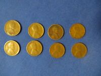 1920 1920-S 1921 1924 1927 2-1928 1929 LINCOLN WHEAT CENTS 8 COINS TOTAL