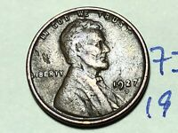 1927 D LINCOLN CENT WHEAT CENT 7329K