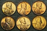 1930 1930-S 1936-D 1937-S 1940-S 1947-S LINCOLN CENT GEM BU CONDITION LOT J200