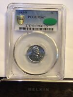 1943 S PCGS MINT STATE 67 CAC LINCOLN WHEAT CENT