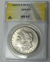 ANACS MINT STATE 62 1899-O MORGAN SILVER DOLLAR NEW ORLEANS MINT